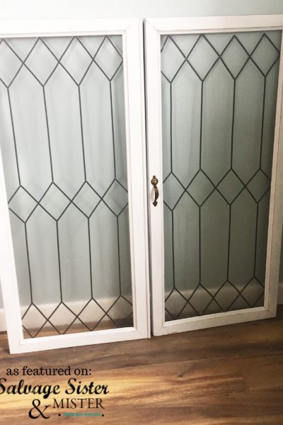 create faux leaded glass windows from some thrift store windows - vintage looking #vintage #windows #diy