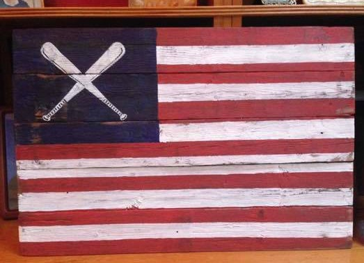 Pallet flag art sign