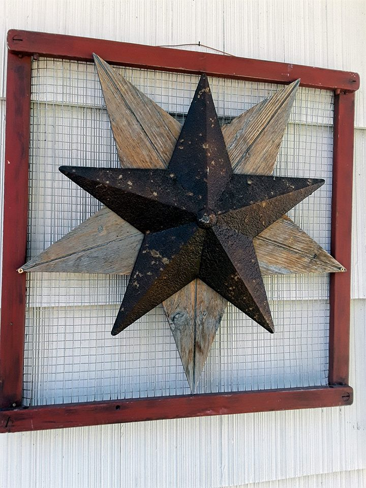 Patriotic Decor item upcycled from a baby gate