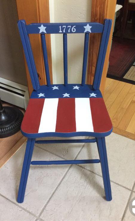 Patriotic childrens chair