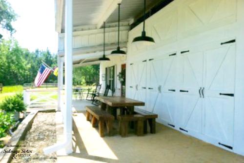 a farmhouse home exterior makeover as featured on salvagesisterandmister.com