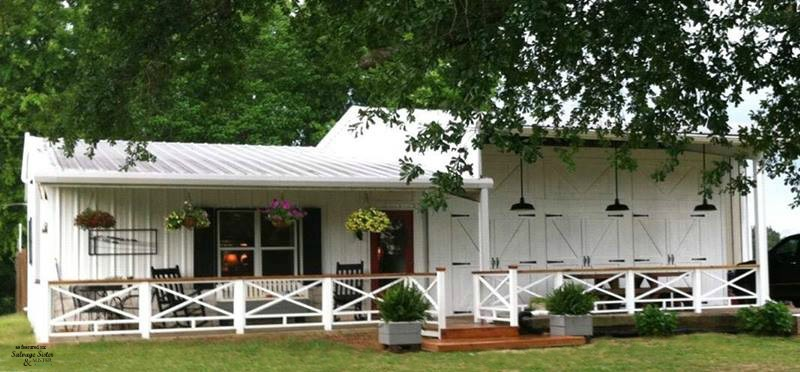 An exterior farmhouse makeover.  The home owners completely remade this home into a fixer upper style home.  #farmhousestyle #homeexterior #diyhome