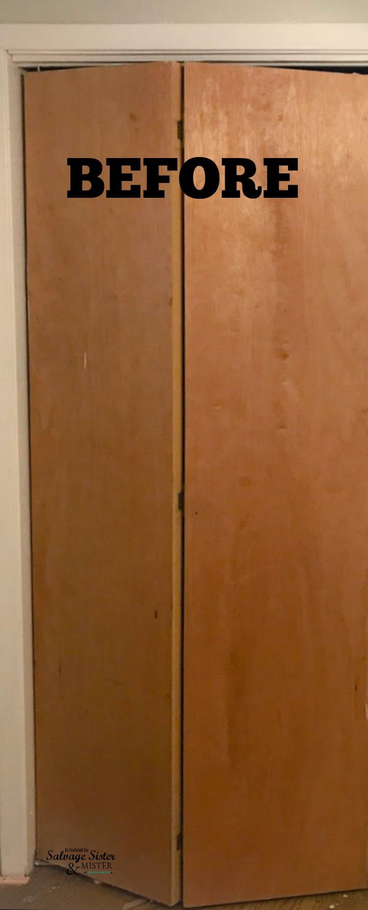Diy Updating Bi Fold Closet Doors Salvage Sister And Mister