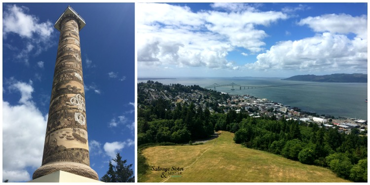 Weekend in Astoria - Astoria Column has a fantastic viewpoint