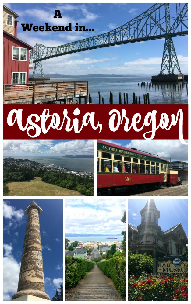 TRAVEL OREGON - A weekend in Astoria.Oregon. This is a wonderful community right along the Columbia River. A perfect place to spend a weekend or longer. Food, shopping, museums, and more await you in this small city in the upper part of Oregon #traveloregon #Astoria #weekendtrip more info at salvagesisterandmister.com
