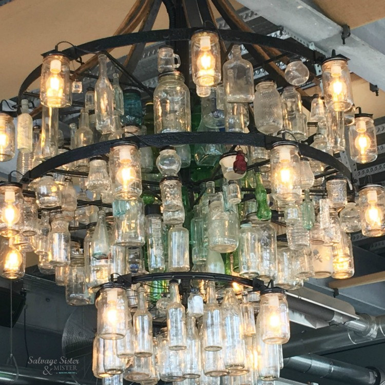 upcycled chandelier in Astoria Oregon