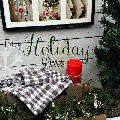 DIY Bargain Christmas Wall Decoration