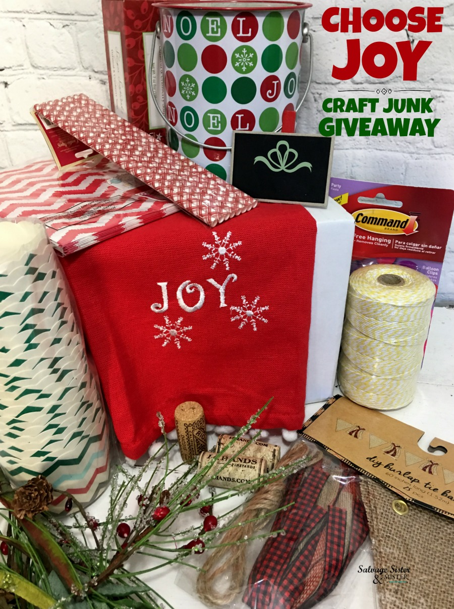 Choose Joy - Craft Junk Giveaway October 2018