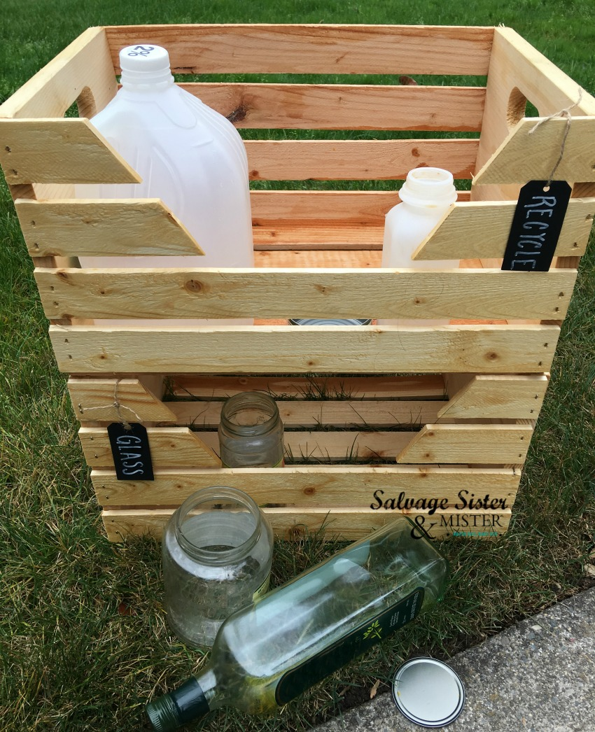 Diy Home Recycle Bins Salvage Sister And Mister