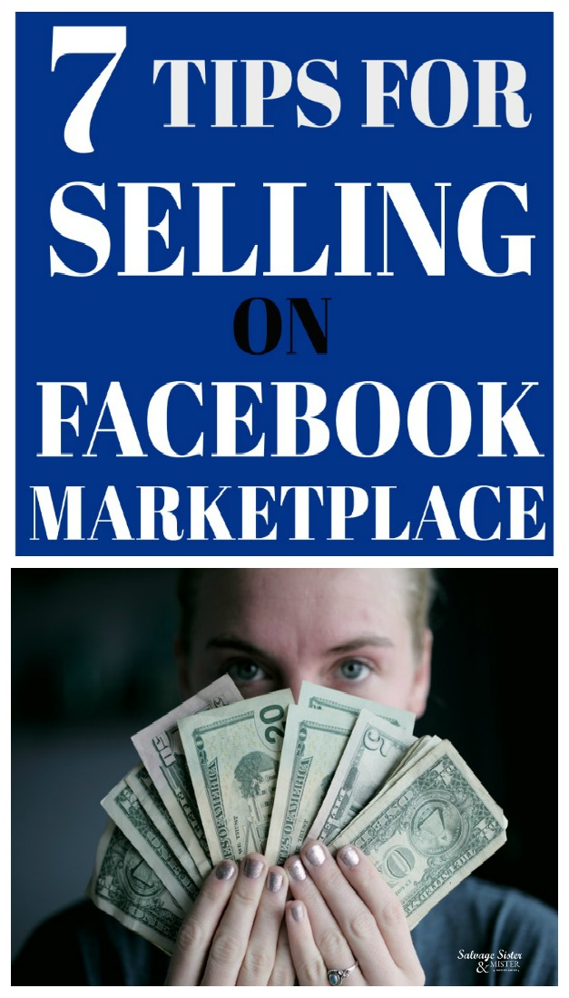 Facebook Marketplace selling tips is a great way to get some cash for items you no longer use and pay for things you do need. Great for keeping on your budget. Get the tips and some bonus info on my experience selling on FB. #budget #moneymanagement #finances (girl with money photo credit Unsplash - Sharon McCutcheon) post found at salvagesisterandmister.com
