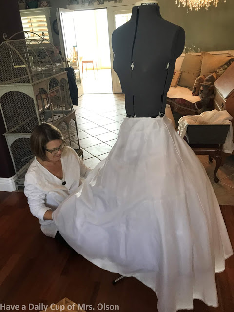 The making of a vintage dress mannequin on salvagesisterandmister.com feature of have a daily cup of mrs olson