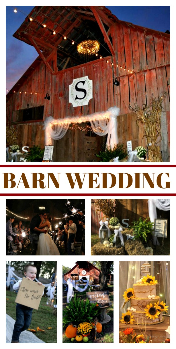 Backyard Barn Wedding - a wedding on the farm is not only simple but budget friendly and beautiful. Find some tips and ways to create your own wedding using repurposed items, using what you already have, and how to do it on the cheap. Featured on salvagesisterandmister.com #budgetfriendly #simpleliving