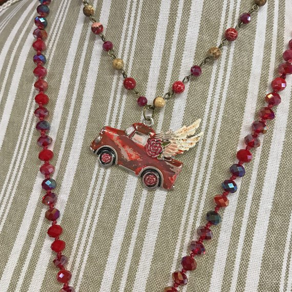 farmhouse truck necklace affiliate link