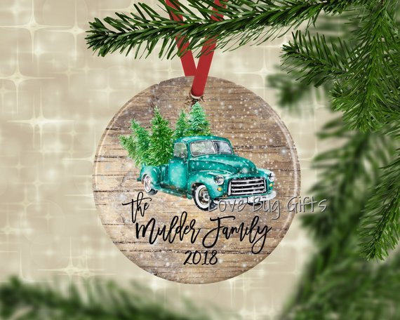 vintage farmhouse truck ornament (affilaite link)