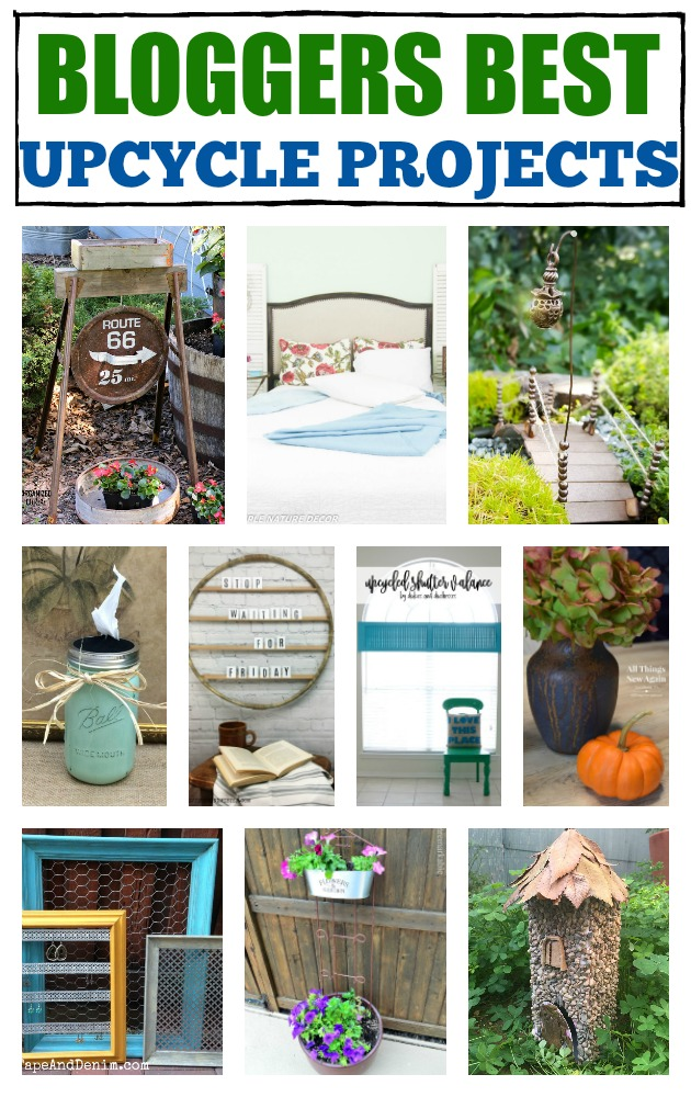 Have items you dont wan tto toss but don't know what to do with them? Here are bloggers best upcycle projects to get you started repurposing in no time. #repurpose #reuse #ucpcyle