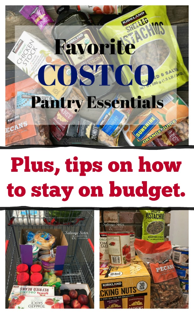 Sticking to a budget and shopping my favorite costco pantry essentials.  Share your must haves too.  Costco membership is a great way for us to get our pantry well stocked.  #sponsored #costco #pantry #budgetshopping