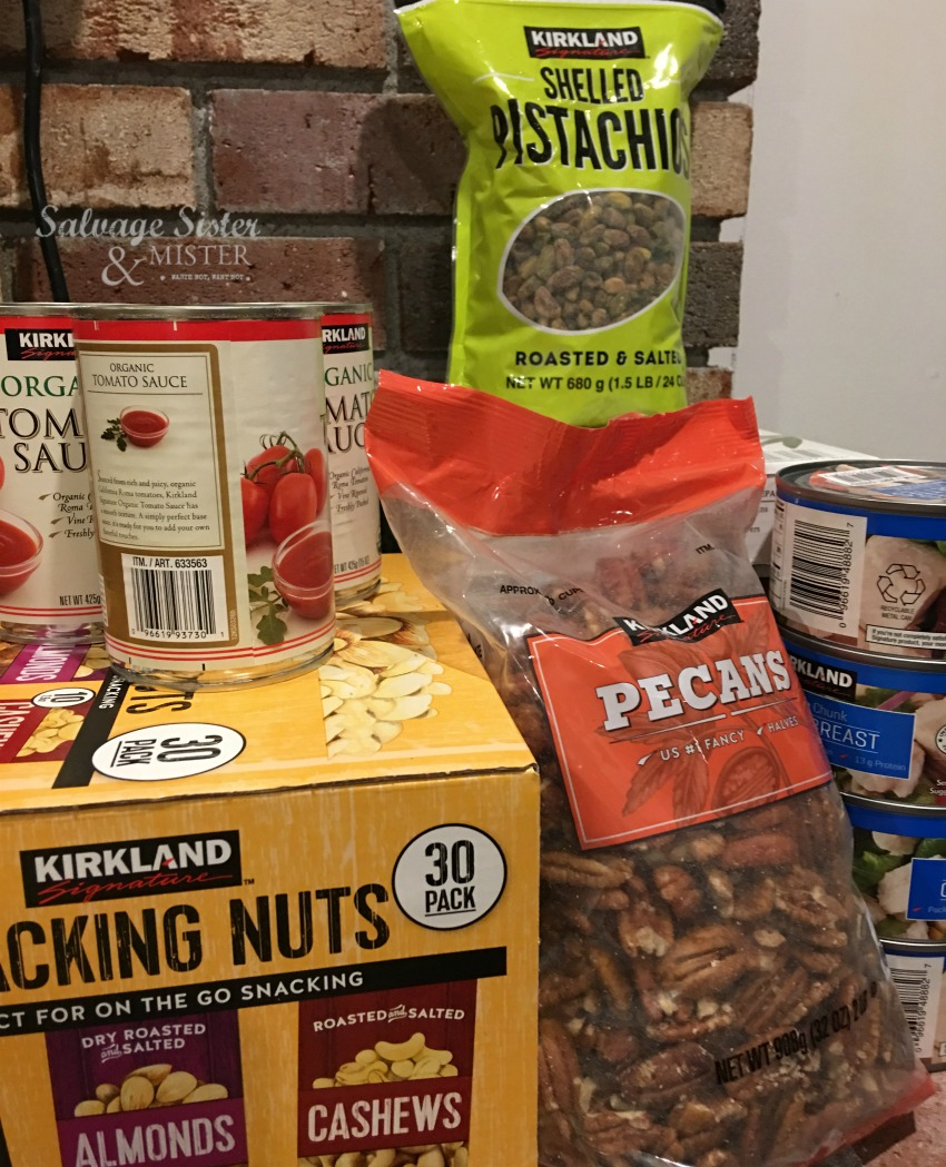 what pantry items do we get from costco?  Favorite costco pantry essentials on slavagesisterandmister.com
