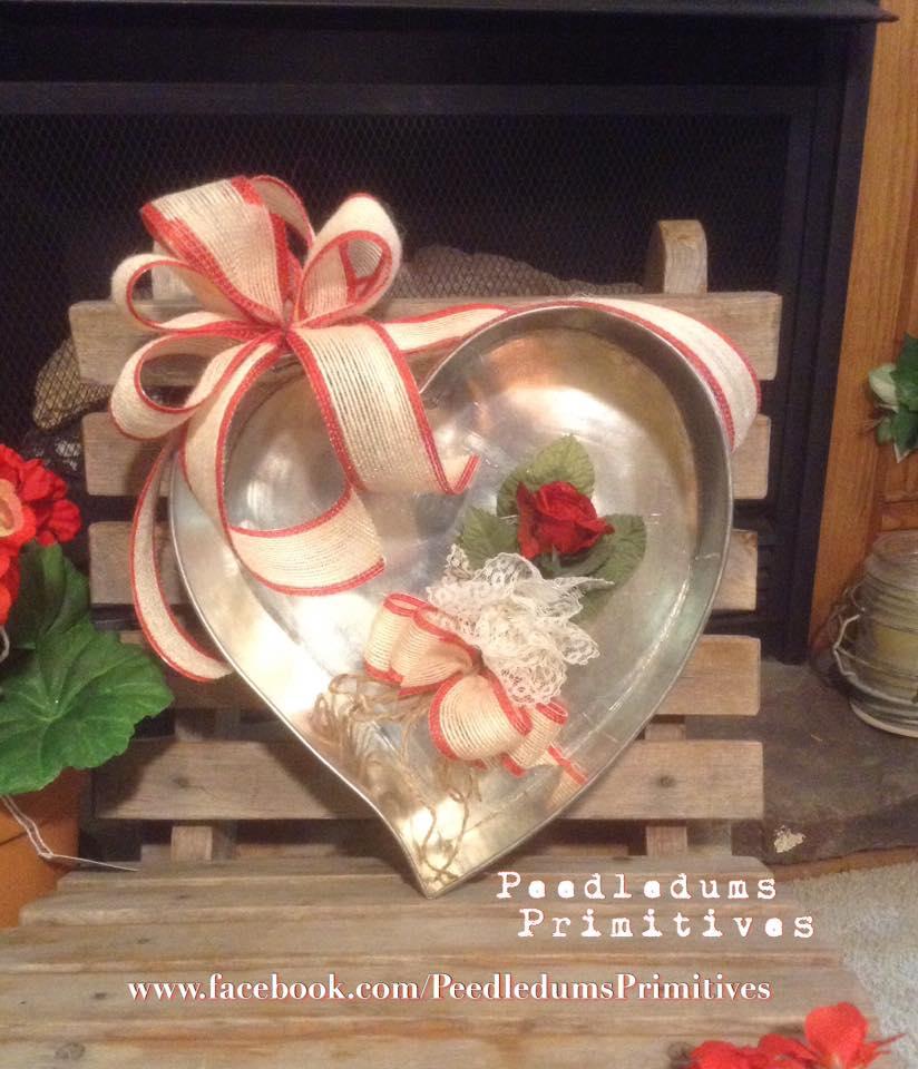 Cake Pan Heart - Peedledums Primitives