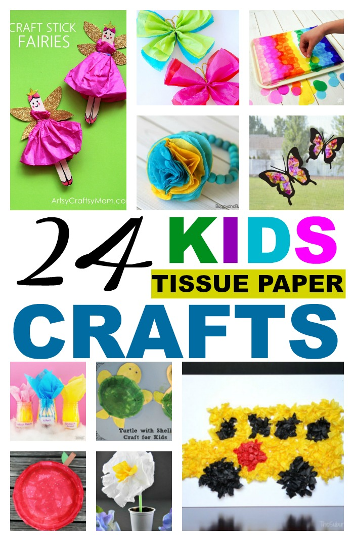 24 Kids Reuse Tissue Paper Crafts Salvage Sister And Mister