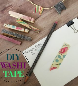 Do you love washi tape? Did you know you can make your own washi? This is not only a great way to use up items you already have (reuse) but it's also a great way to customize your washi to what you need. Craft supplies. #diy #washi #reuse on salvagesisterandmister.com