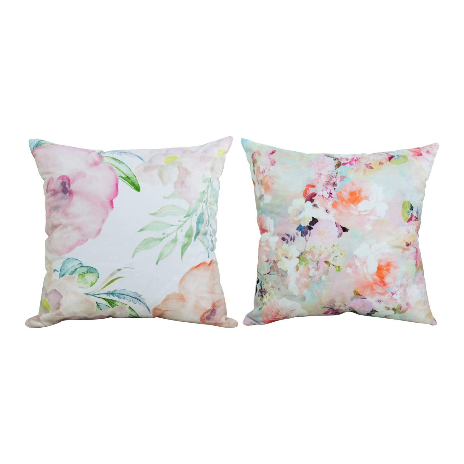 spring floral pillow covers - peonies and watercolor perfect for spring and is so easy to store..budget friendly affiliate link
