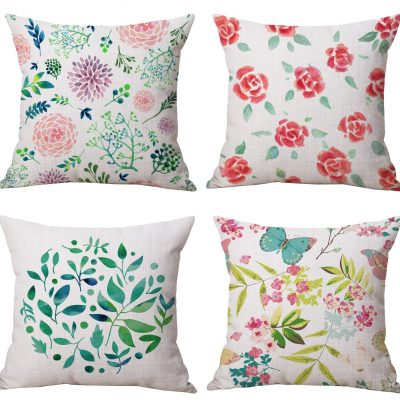 spring blossom floral pillow covers fun way to easily update home decor in an inexpensive way affiliate link