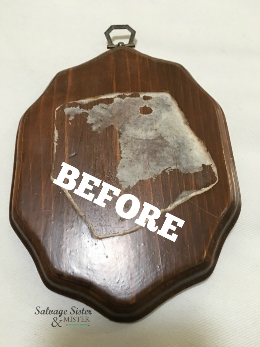 DIY FArmhouse plaque from a thrift store find on salvagesisterandmister.com