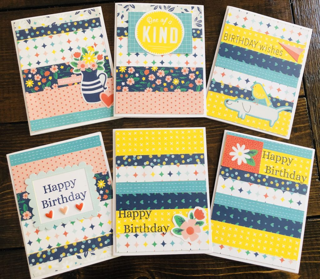 Turning paper scraps into handmade cards. Great for paper crafts and old scrap book paper. Featured on salvagesisterandmister.com