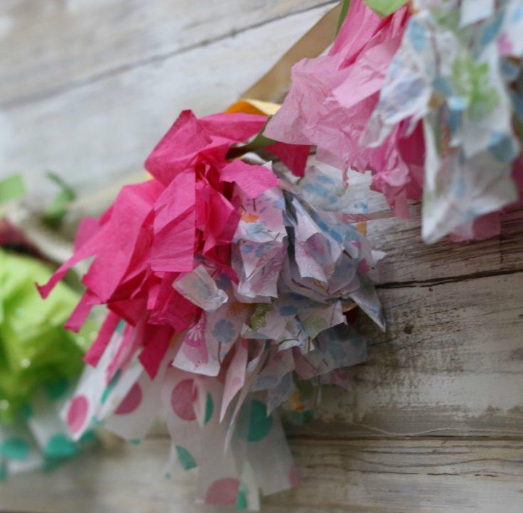 Tissue Paper Tassel Garland Craft