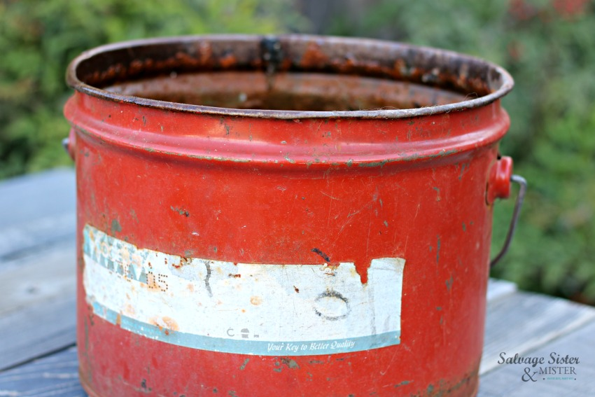 vintage container to do a pot in pot succulent planter