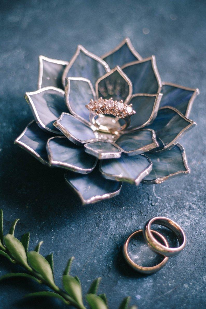 Succulent glass ring holder affiliate link