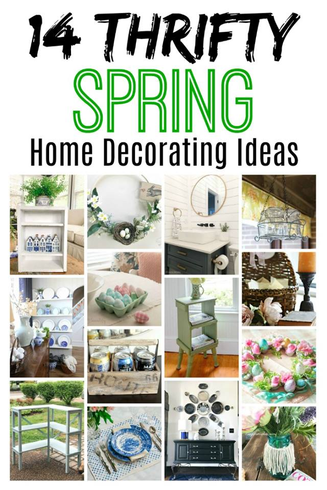 Thrifty style team is sharing lots of thrift store makeovers perfect for your spring home decor