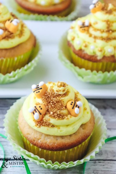 Celebrate bees, make for a celebration, or just for fun. These lemon beehive cupcakes are delicious and so pretty found on salvagesisterandmister.com