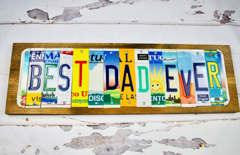 best dad ever license plate sign affiliate link