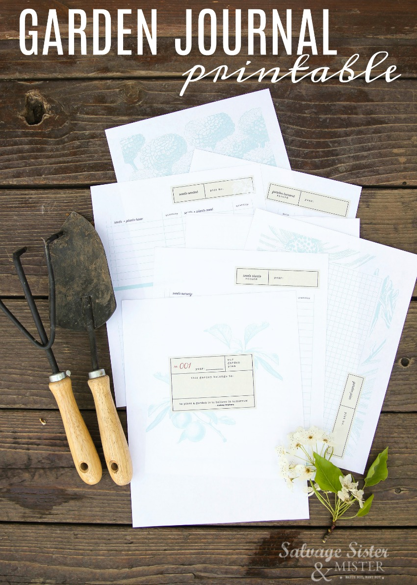 garden journal free printable - great way to keep track of your seeds - plants to see what is doing well and what isn't. Also, plants needs, where it's planted etc. This journal will keep it all organized for you