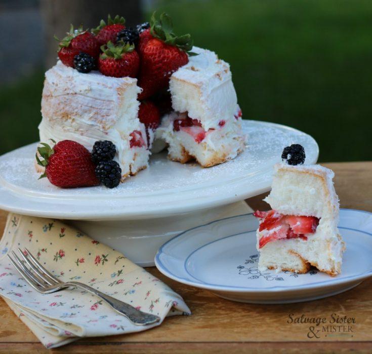 Naked Angel Food Cake