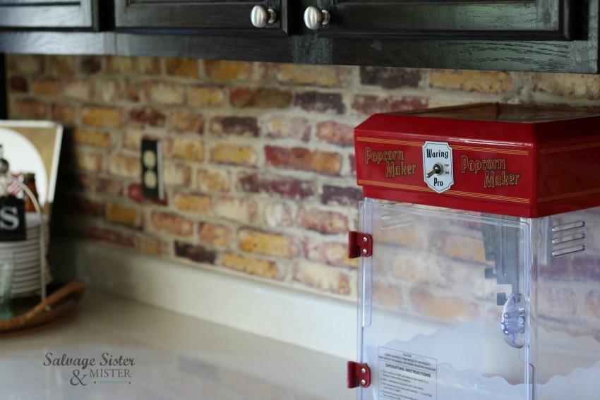 reviewing peel and stick removable brick backsplash