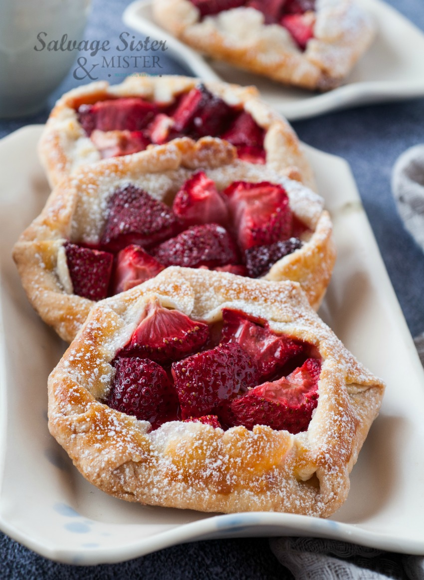 homemade mini strawberry galettes