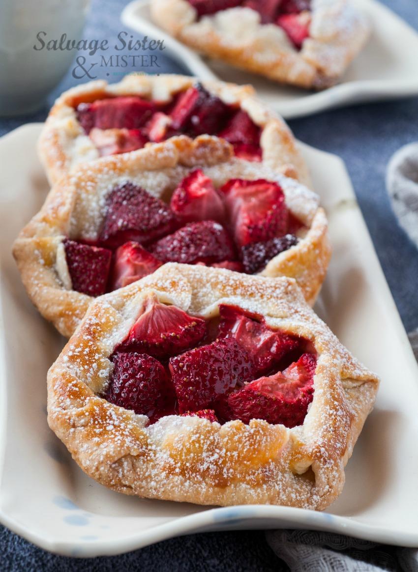 homemade mini strawberry galettes