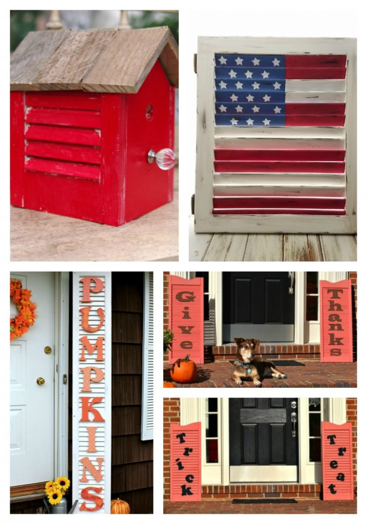 get crafty with these 21 Upcycled Shutter Projects