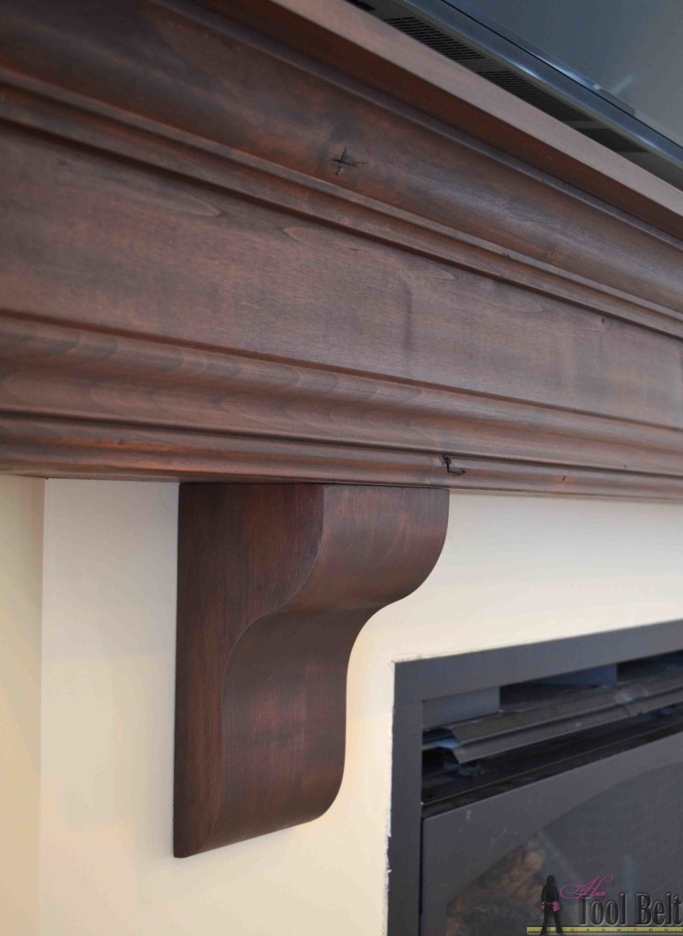 diy fireplace using molding