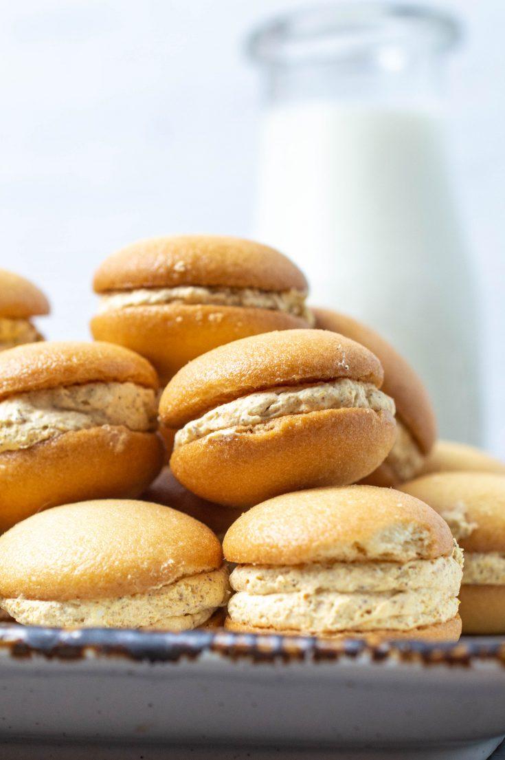 Mini Pumpkin Cheesecake Sandwich Cookies