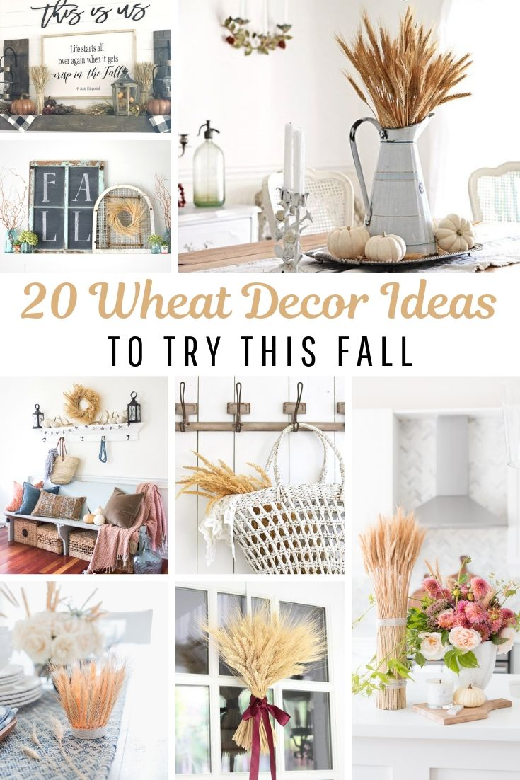 20 Wheat Decorations to try this fall. Budget friendly home decor. Decorating with nature for a neutral home. Use what you got and waste less. Get these beautiful home decorating ideas on salvagesisterandmister.com