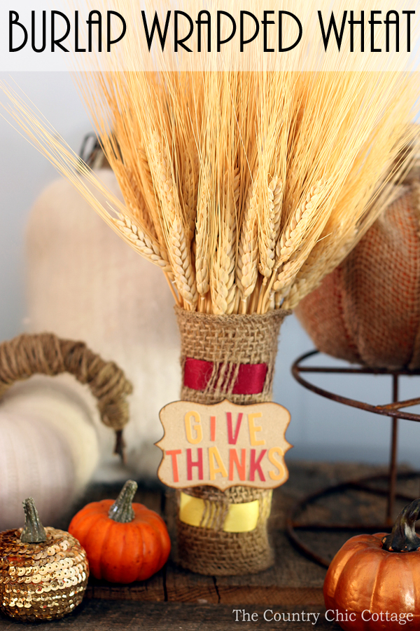 fall wheat centerpiece