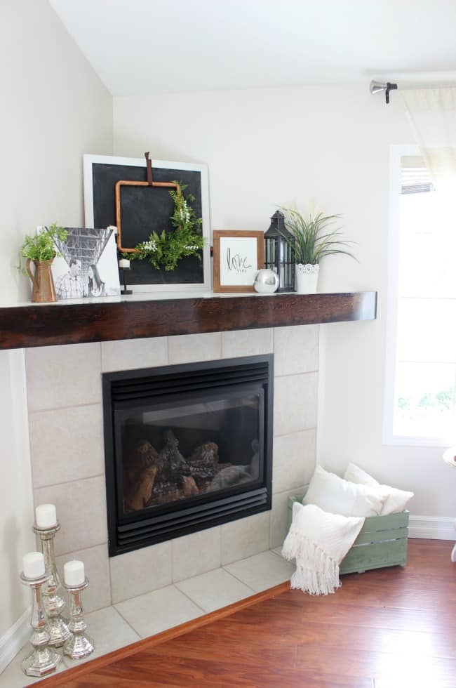 diy mantel with free plans