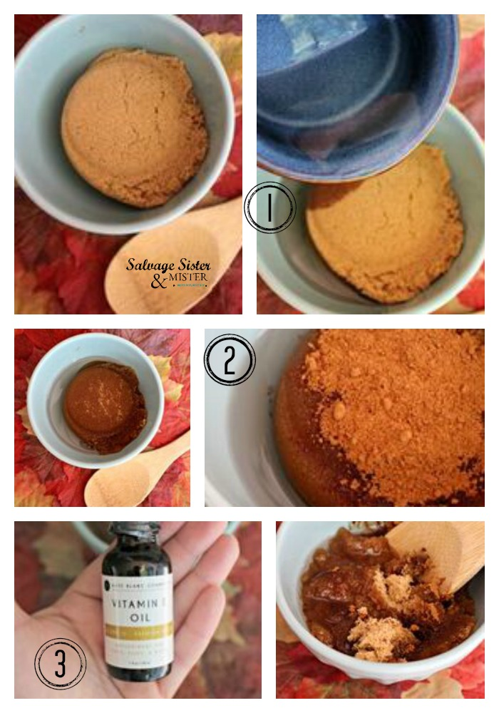 Create your own beauty product - diy pumpkin sugar scrub. Get the step by step instructions for this on salvagesisterandmister and get ready for fall