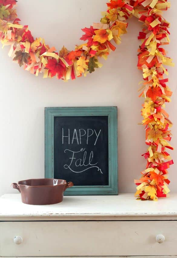tissue paper fall party garland