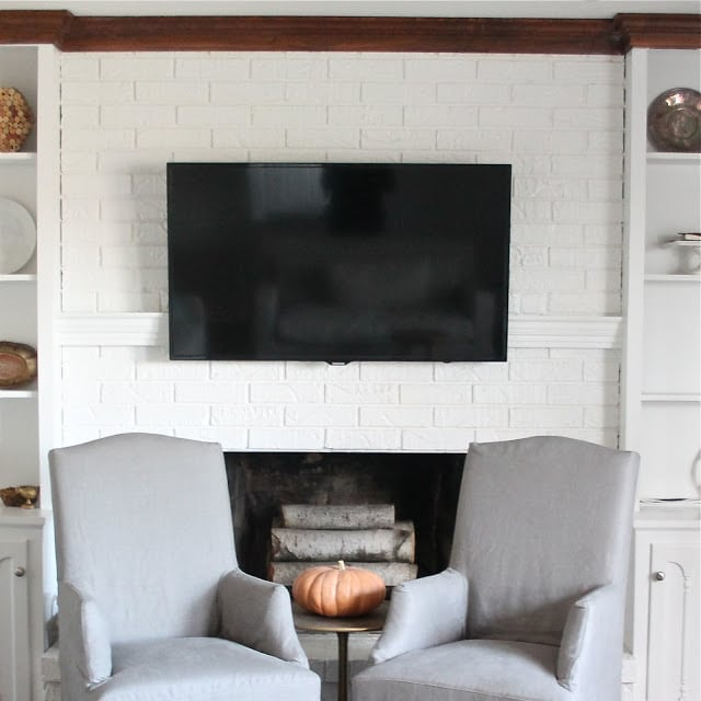 mantel to hide tv cords