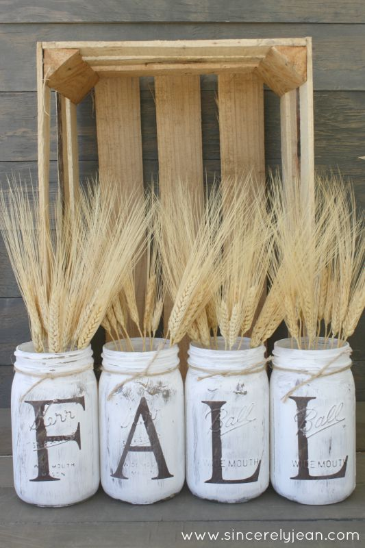 fall mason jars home decor