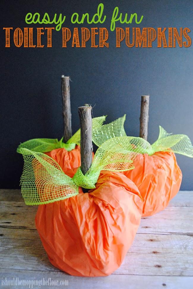 toiilet paper roll pumpkins